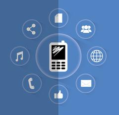 Mobile app technology Piirros