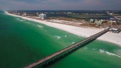 Florida Fishing Pier Stock Footage