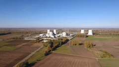 Nuclear power plant Biblis, Germany Stock Footage