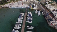 Speed Boats in the Harbour Stock Footage
