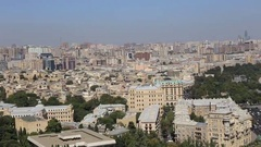 Panoramic view of Baku from a height. The Republic of Azerbaijan Stock Footage