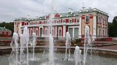 Palace Kadriorg at Kadriorg Park in Tallinn, Estonia Stock Footage