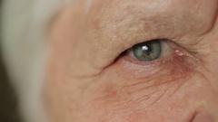 Eye of senior woman Stock Footage