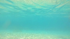 Underwater ocean blue seascape water waves aquatic beautiful background gopro Stock Footage