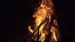 Slow motion shot of bonfire Stock Footage