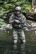 Army ranger in the mountains Stock Photos