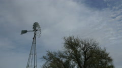 A traditional ranch windmill Stock Footage