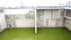 Modern urban wastewater treatment plant Stock Footage