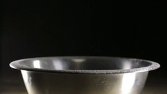 A man sifts the flour through a sieve Stock Footage
