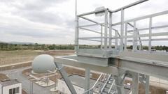 Modern urban wastewater treatment plant Stock Footage