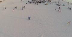 Beach drum circle Stock Footage
