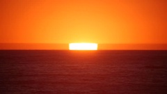 Beautiful sunset in the pacific ocean Stock Footage