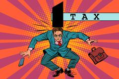 Tax policy, impact on business Stock Illustration