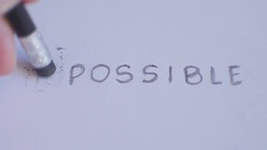 Changing the word impossible to possible. Stock Footage