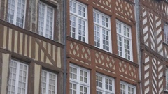 RENNES, FRANCE - JANUARY 2015 Facades and detailed facades in city center by Stock Footage