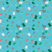 Christmas wrapping paper on blue Stock Illustration