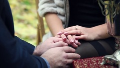 Recognition, of a man and woman holding hands Stock Footage