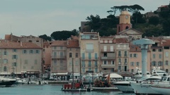 Time Lapse of a port in Saint-Tropez at daytime Stock Footage