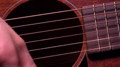 Playing the guitar. Live music performance. 4K macro video Stock Footage