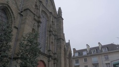 Saint-Germain Church architecture located in Rennes Brittany Stock Footage