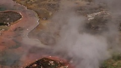 Artists Paint Pots in Yellowstone Stock Footage