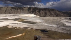 Mammoth Hot Springs, Yellowstone National Park Stock Footage