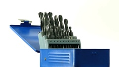 Drill bit set rotating Stock Footage