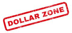 Dollar Zone Rubber Stamp Stock Illustration