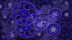 Abstract Gears rotating in looped animation Stock Footage