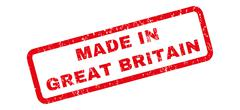 Made In Great Britain Rubber Stamp Piirros