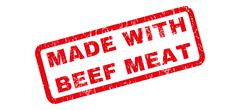 Made With Beef Meat Rubber Stamp Piirros
