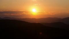 Sunset over landscape time lapse. Beautiful evening colors Stock Footage