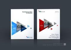 Business vector. Brochure template layout, cover design annual r Stock Illustration