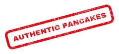 Authentic Pancakes Rubber Stamp Stock Illustration