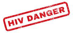 HIV Danger Rubber Stamp Stock Illustration