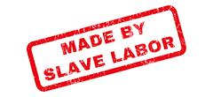 Made By Slave Labor Rubber Stamp Piirros
