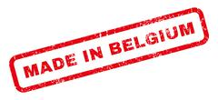 Made In Belgium Rubber Stamp Piirros