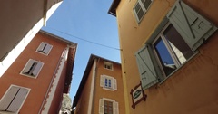 Briancon Old Town Stock Footage