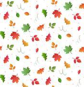 Seamless autumn pattern. Stock Illustration