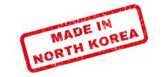 Made In North Korea Rubber Stamp Piirros