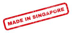 Made In Singapore Rubber Stamp Piirros