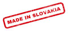 Made In Slovakia Rubber Stamp Stock Illustration