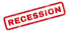 Recession Rubber Stamp Stock Illustration
