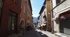 Briancon Old Town, Hautes-Alpes, France Stock Footage