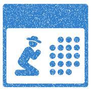 Pray Calendar Grainy Texture Icon Stock Illustration