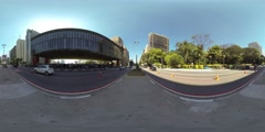 Avenida Paulista near the Museum of Art Sao Paulo (MASP). 360 video vr panorama Stock Footage