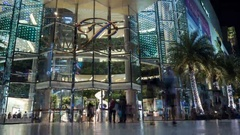Timelapse of people traffic at the entrance to Siam Paragon Stock Footage