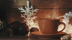 Cup of Hot Coffee or Tea Stock Footage