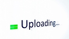 Uploading Files Close up on Computer Monitor Stock Footage