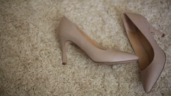 Cute wedding shoes Stock Footage